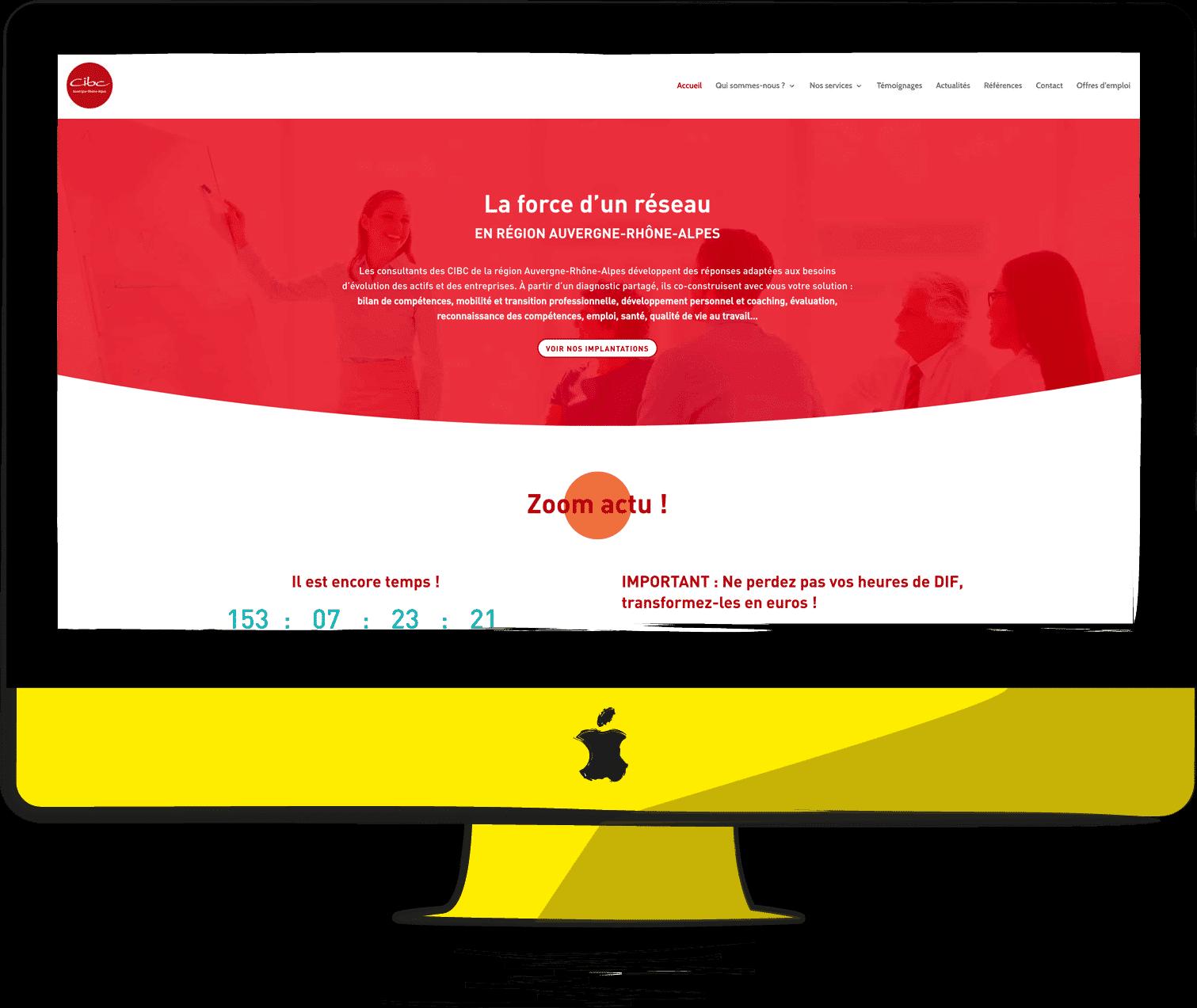 site internet CIBC Auvergne-Rhône-Alpes